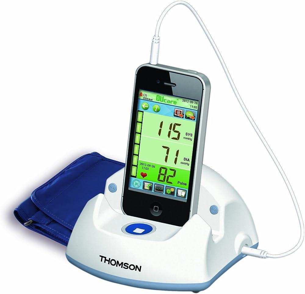 Thomson,misuratore automatico della pressione da braccio,sfigmomanometro,con docking station TKP7710
