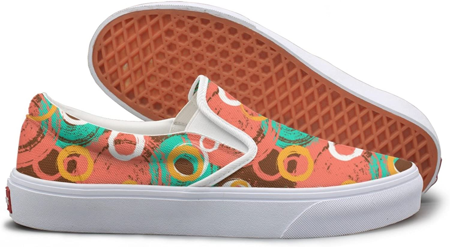 SEERTED Circles and Bubble Graffiti Design Running Sneakers for Women