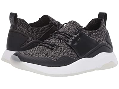 Cole Haan ZEROGRAND All-Day Trainer (Black Knit/Leather/Optic White) Women