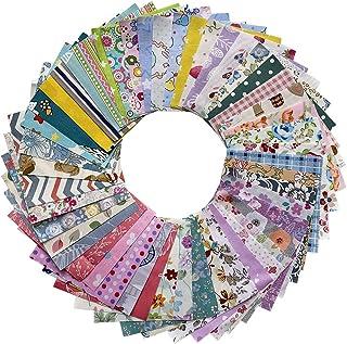 たっぷり200枚 10×10cm パッチワーク用布地 花柄 はぎれ布 セット棉 生地 可愛い 福袋 50パターン 端切れ布 yiban