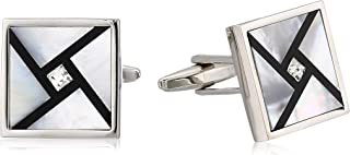 Stacy Adams Men's Cuff Link, Silver, No Size