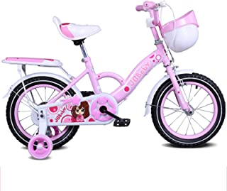 """12"""" 14"""" 16"""" 18"""" Pink Girl's Kids Bike for Girls & Boys Ages 3-8 Years Old with Training Wheels & Hand Brakes with Stabilis..."""