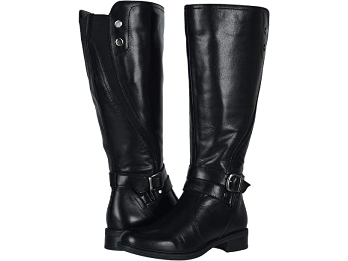 womens leather dress boots wide calf