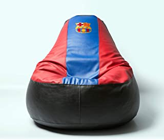 Barcelona Football Beanbag Comfortable Kids Adult Game Outdoor Indoor Lounge Chair Cover + Inner Bag (Without Beans)