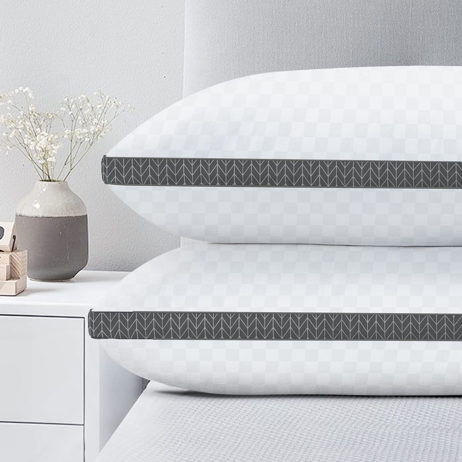 BedStory Pillows for Sleeping Max 64% OFF Queen Size Soft 1 year warranty Bed 2 Ultra Pack