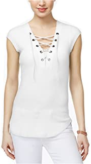 William Rast Women's Gordon Lace-up Top