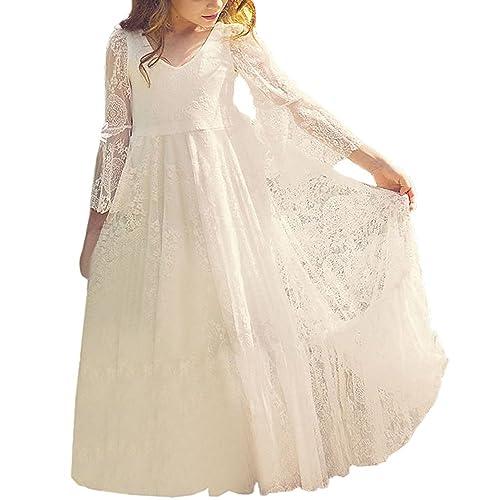 1429792f5fd Fancy A-line Lace Flower Girl Dress 2-12 Year Old