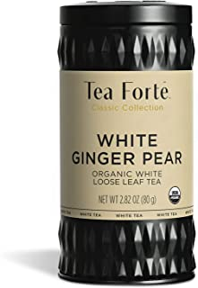 Tea Forté Organic White Tea WHITE GINGER PEAR, 2.82 Ounce Loose Leaf Tea Canister
