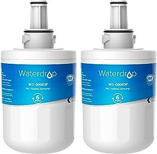 2X Waterdrop DA29-00003F Filtre à Eau du Réfrigérateur, Compatible avec Samsung Aqua Pure Plus DA29-00003F, HAFIN1, DA29-0...