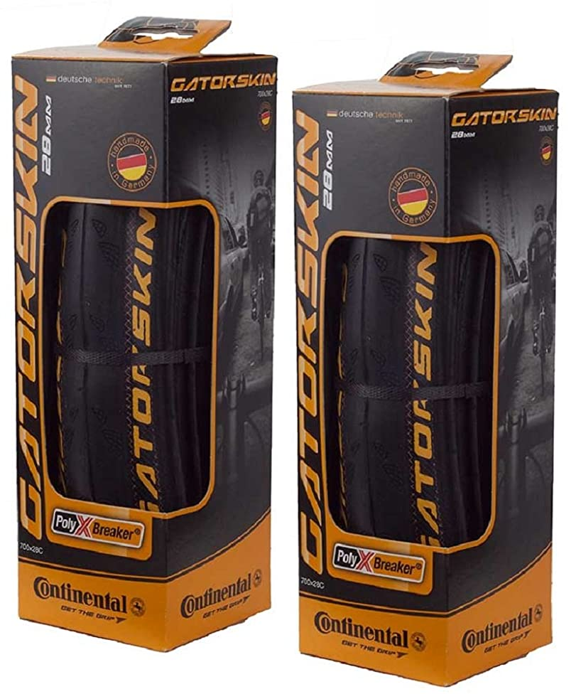 Continental GatorSkin DuraSkin Tire, 2-Count (Folding, 700 x 32mm) w79988385678555