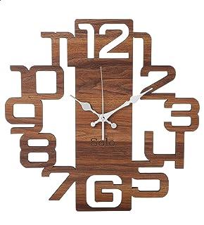 ساعة حائط انالوج خشب من سولو