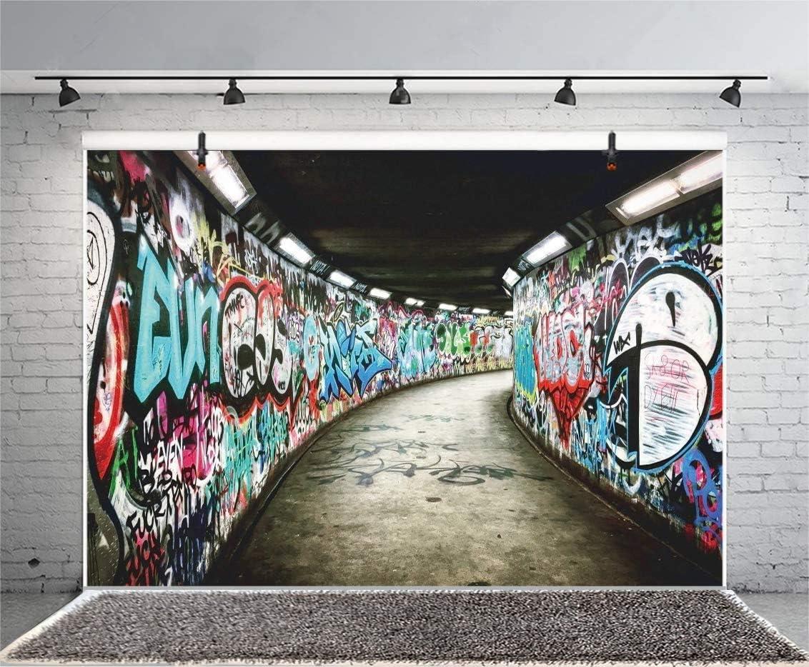Leyiyi 10x7ft Photography Background Graffiti Chicago Mall Wall Backdr 1 year warranty Grunge