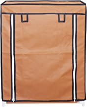 RMA HANDICRAFTS Shoe Rack with Cover 4 Layer (Orange)