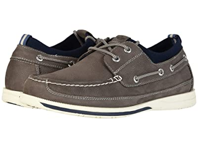 Dockers Homer Smart Series Leather Boat Shoe with Smart 360 Flex and NeverWet (Charcoal) Men