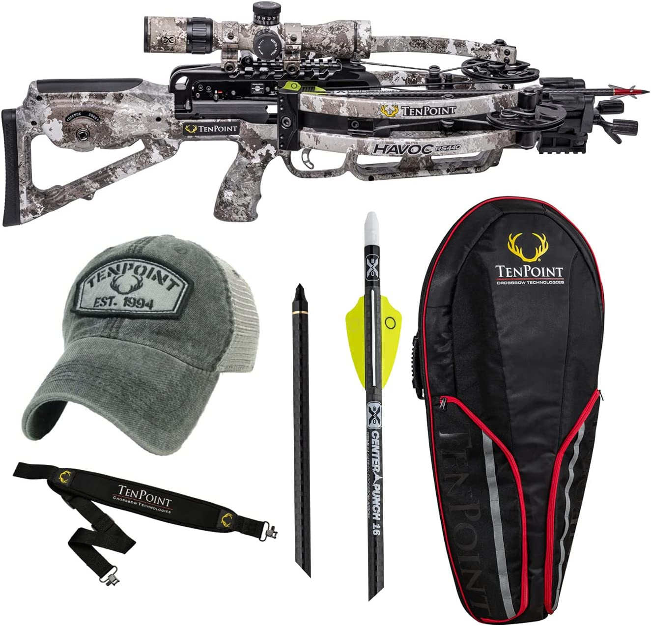 TenPoint Havoc Max 85% OFF RS440 Crossbow Alpine Camo Bundle 5 Essentials free