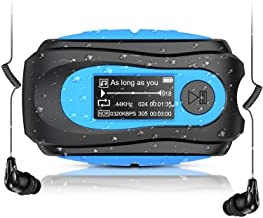 Swimming MP3 Player with Clip, AGPTEK 8GB IPX8 Waterproof Music Player with Headphones for Running Sports, S07E Music Play... photo