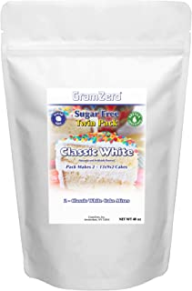 GramZero, 2 Pack White Cake Mix, Makes 2 - 13x9x2 Cakes, Stevia Sweetened, SUGAR FREE