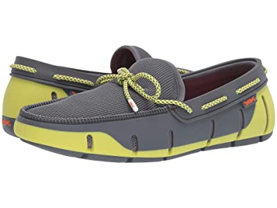 SWIMS Stride Lace Loafer (Gray/Limeade) Men
