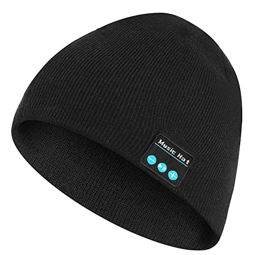 BALANSOHO Bluetooth Beanie Hat Wireless Musical Knit Cap Washable with  Stereo Speakers   Mic Fit for f0a07f86980a