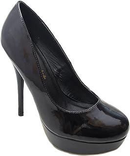 Andrés Machado - Zapato de tacón de Mujer con tacón Fino y Plataforma - AM453 - Zapatos de tacón Fino de Fiesta - Stilettos Materiales – Tallas Desde la 32 a la 45