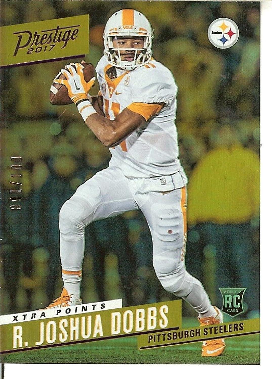 Football NFL 2017 Prestige Rookie Signatures Xtra Points Purple  229 R. Joshua Dobbs Auto  100 Steelers
