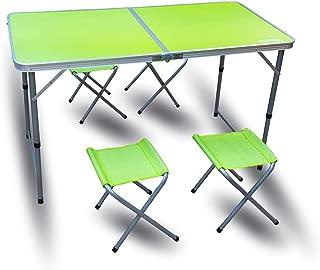 RSonic - Mesa de Camping Plegable de Aluminio con Patas y
