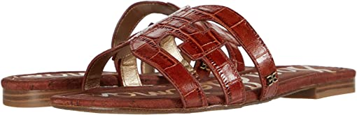 Warm Mahogany Splendor Croco Leather
