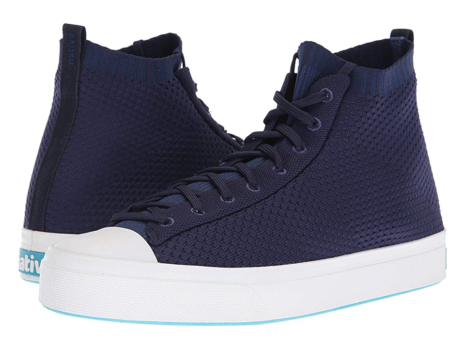 Native Shoes Jefferson 2.0 High (Regatta Blue/Shell White) Lace up casual Shoes