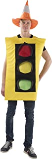 Traffic Light Costume and Safety Cone Hat - for Men (one Size)
