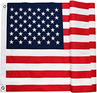 DLORY American USA Flag 3x5 FT Durable Heavy Duty United States Flag Embroidered Stars Sewn Stripes UV Protected Outdoor US Flag (3 by 5 Foot)