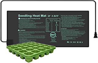 YOUSHENGER Seedling Heat Mat 10'x20.75',MET Certified Waterproof Germination Station with 1pcs Seed Starter Tray, Warm Hydroponic Heating Mat for Indoor Home Gardening Plant Germination kit