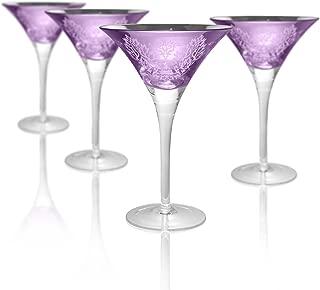 Artland 52410B Brocade Martini Glass, 8 oz, Lavender