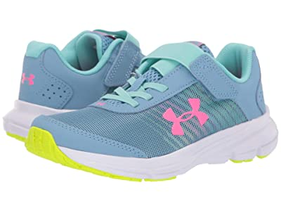 Under Armour Kids UA GPS Rave 2 NP AC (Little Kid) (Boho Blue/Mojo Pink) Girls Shoes