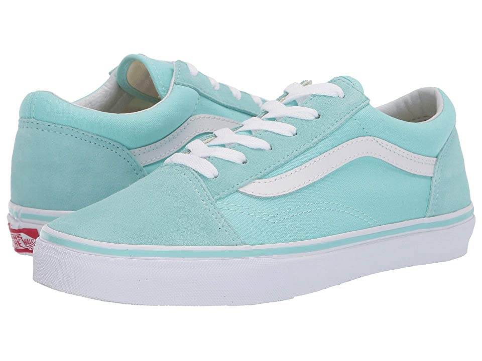 Vans Kids Old Skool (Little Kid/Big Kid) (Blue Tint/True White) Girls Shoes