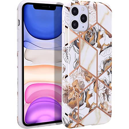 Compatible with iPhone SE 2020 Case,iPhone 7 8 Case Geometric Marble Design Stylish Shiny Gold Stripes Glossy Floral Marble Design for Girls Women,Soft Cover Flexible Protective Phone Case-Gold