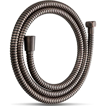 1.5m Stainless Steel Shower Hose Pipe Flexible Standard Fit Crimped Universal