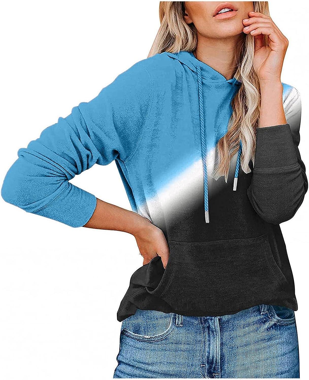 GUOBIOZIY Hoodies for Women with Zipper,Women's Sweatshirts Long Sleeve Casual Loose Tunic T Shirt Blouse Pullover Tees