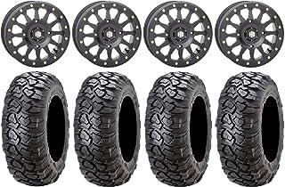 "Bundle - 9 Items: STI HD A1 Beadlock 15"" Wheels Black 30"" Ultracross Tires [4x137 Bolt Pattern 10mmx1.25 Lug Kit]"