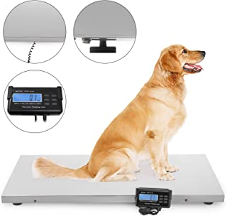 Happybuy 660lbs Digital Livestock Scale Large Pet Vet Scale 43.3x21.6inch Stainless Steel Platform Electronic Postal Shipping Scale Heavy Duty Large Dog Hog Sheep Goat Pig Sheep Scale (2 Measure)