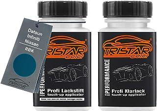 TRISTARcolor Autolack Lackstift Set für Datsun/Infiniti/Nissan RBK Turquoise Metallic/Pacific Blue Metallic Basislack Klarlack je 50ml