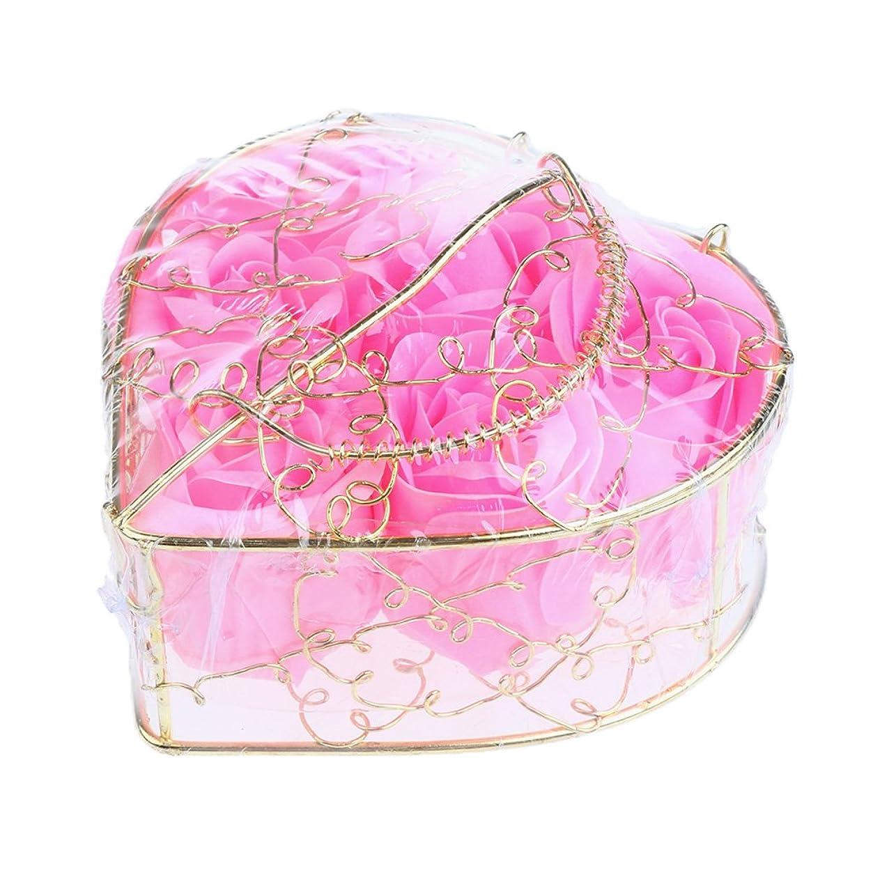 残り物アグネスグレイ通りPerfk 6個 石鹸の花 石鹸花  造花 フラワー バラ ソープフラワー  シャボンフラワー  フラワーボックス プレゼント 全5タイプ選べる - ピンク