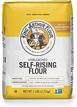 King Arthur Flour Unbleached Self Rising Flour, 5 Pound (Pack of 8)