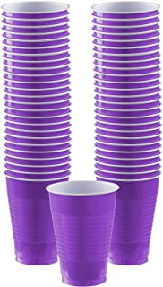 New Purple Plastic Cups Big Party Pack, 12 Oz., 50 Ct.