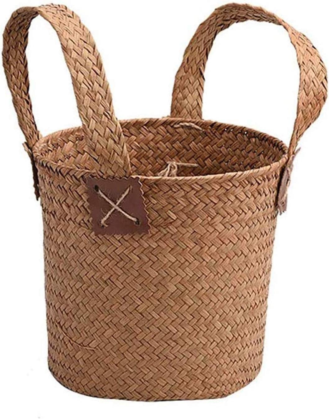 DSWHM New Rapid rise Orleans Mall Storage Baskets Basket Straw Clothes Stor