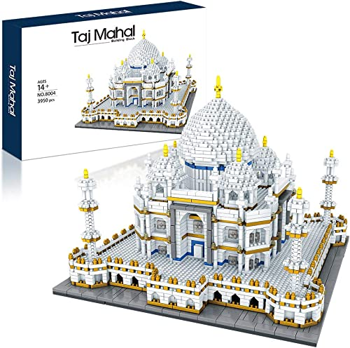 lowest Architecture Collection: Taj Mahal 3950 pcs 2021 Building Set Model Kit and Gift for Adults and Kids ,Micro outlet online sale Block sale