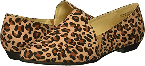Natural Leopard Suede