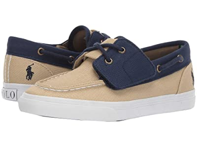 Polo Ralph Lauren Kids Bridgeport EZ (Littler Kid) (Khaki/Navy Heavy Twill/Navy Pony) Boy