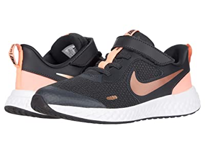 Nike Kids Revolution 5 (Little Kid) (Dark Smoke Grey/Metallic Red Bronze) Boys Shoes