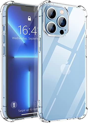 Daxnova iPhone 13 Pro Case Compatible with iPhone 13 Pro Case 6.1 inch Non-Yellowing 4 Corners Shockproof Protective Anti-Fall Crystal Clear Phone Case