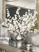 Larksilk Premium White Cherry Blossom Flowers - 36